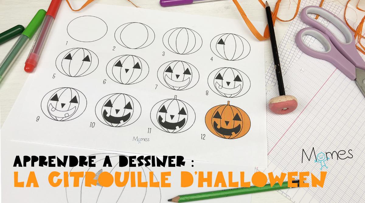 Apprendre À Dessiner : La Citrouille D'halloween - Momes à Apprendre À Dessiner Halloween