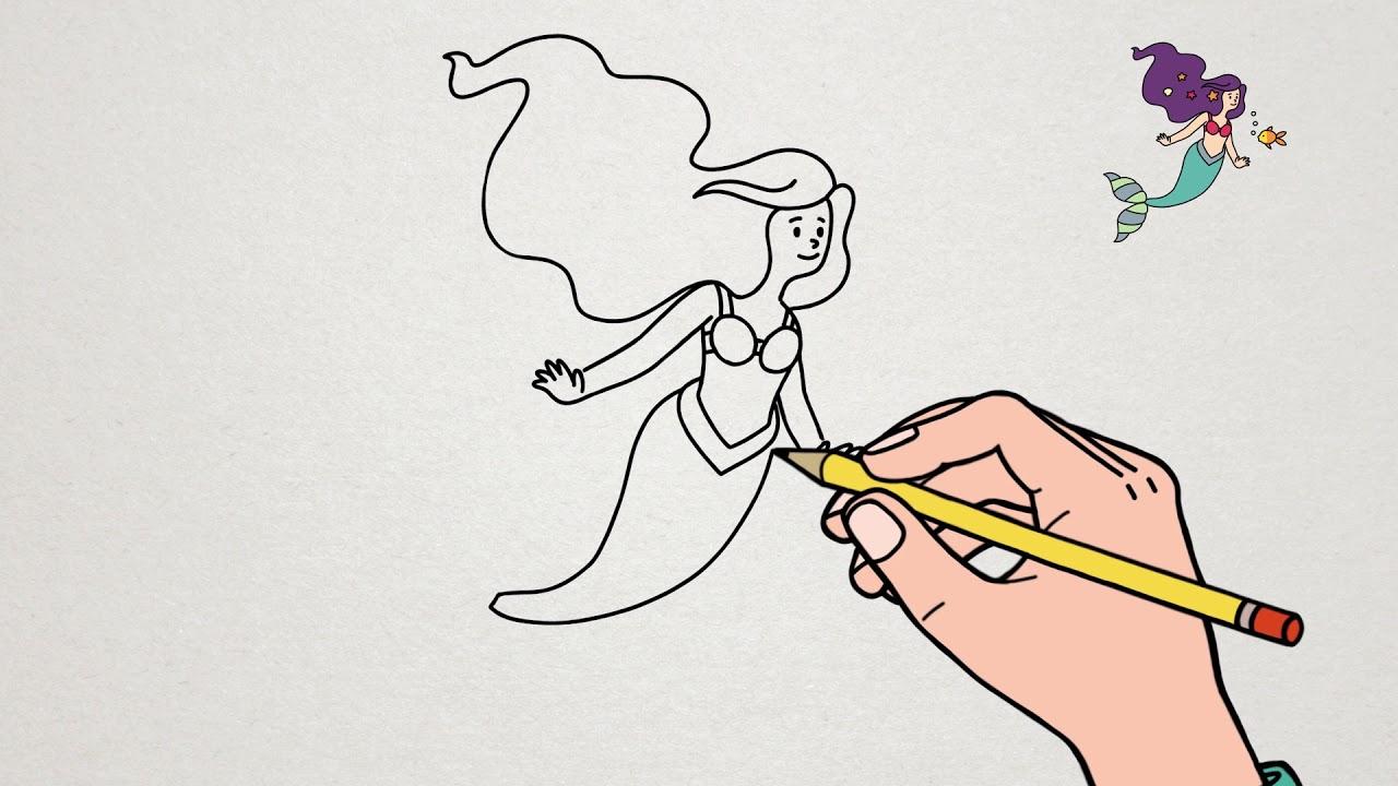 Apprendre À Dessiner La Petite Sirène | Tutoriel Ariel dedans Coloriage Princesse Sirene