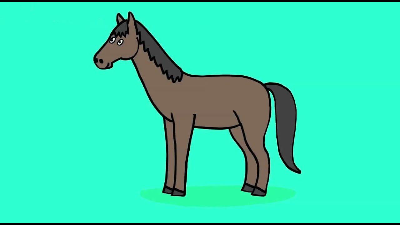 Apprendre À Dessiner Un Cheval ? - How To Draw A Horse ? pour Cheval Dessin Couleur