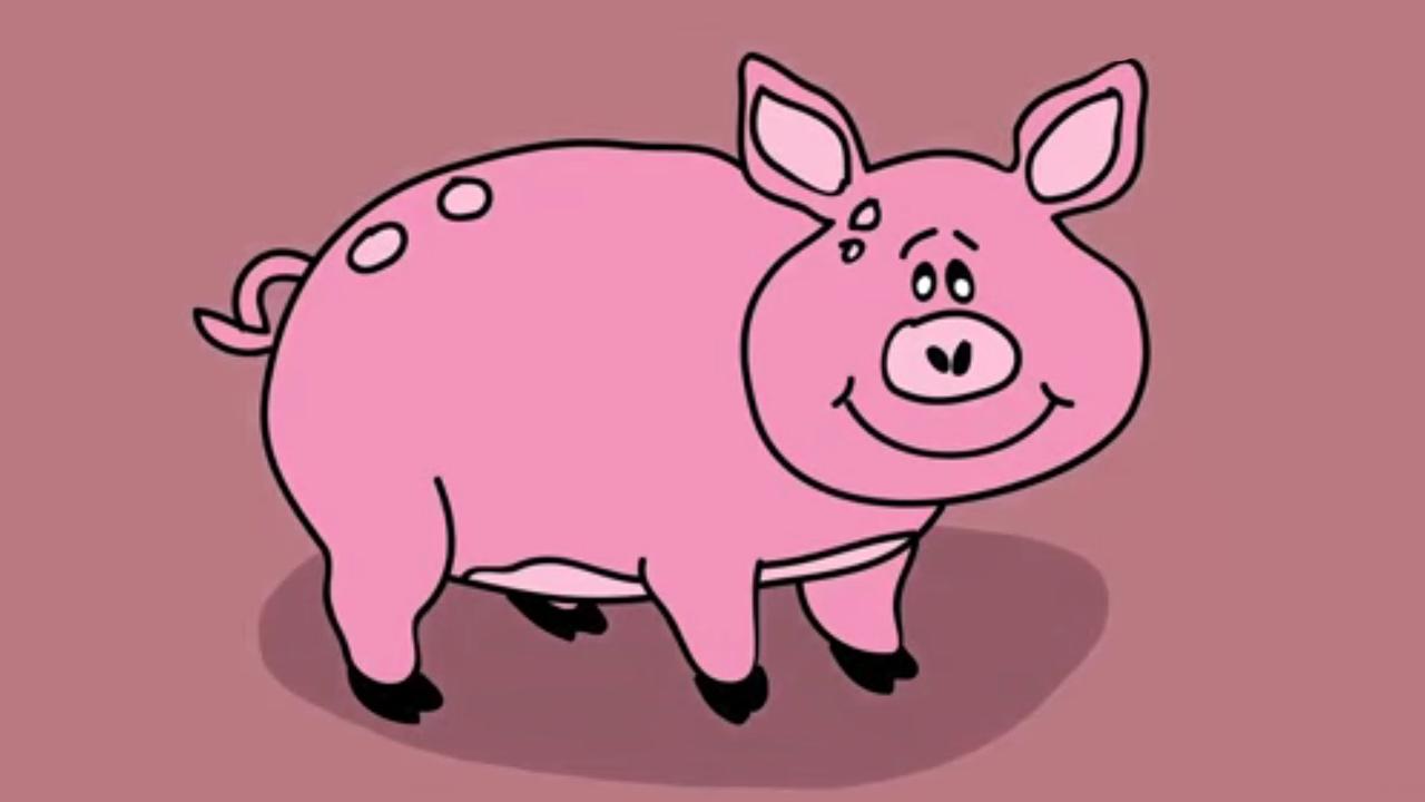 Apprendre À Dessiner Un Cochon destiné Dessin De Cochon En Couleur