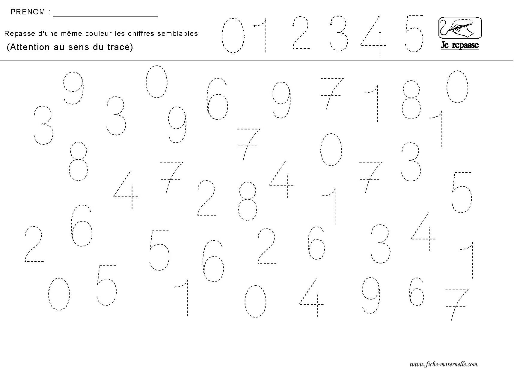 Apprendre A Ecrire Les Chiffres avec Lettres En Pointillés À Imprimer