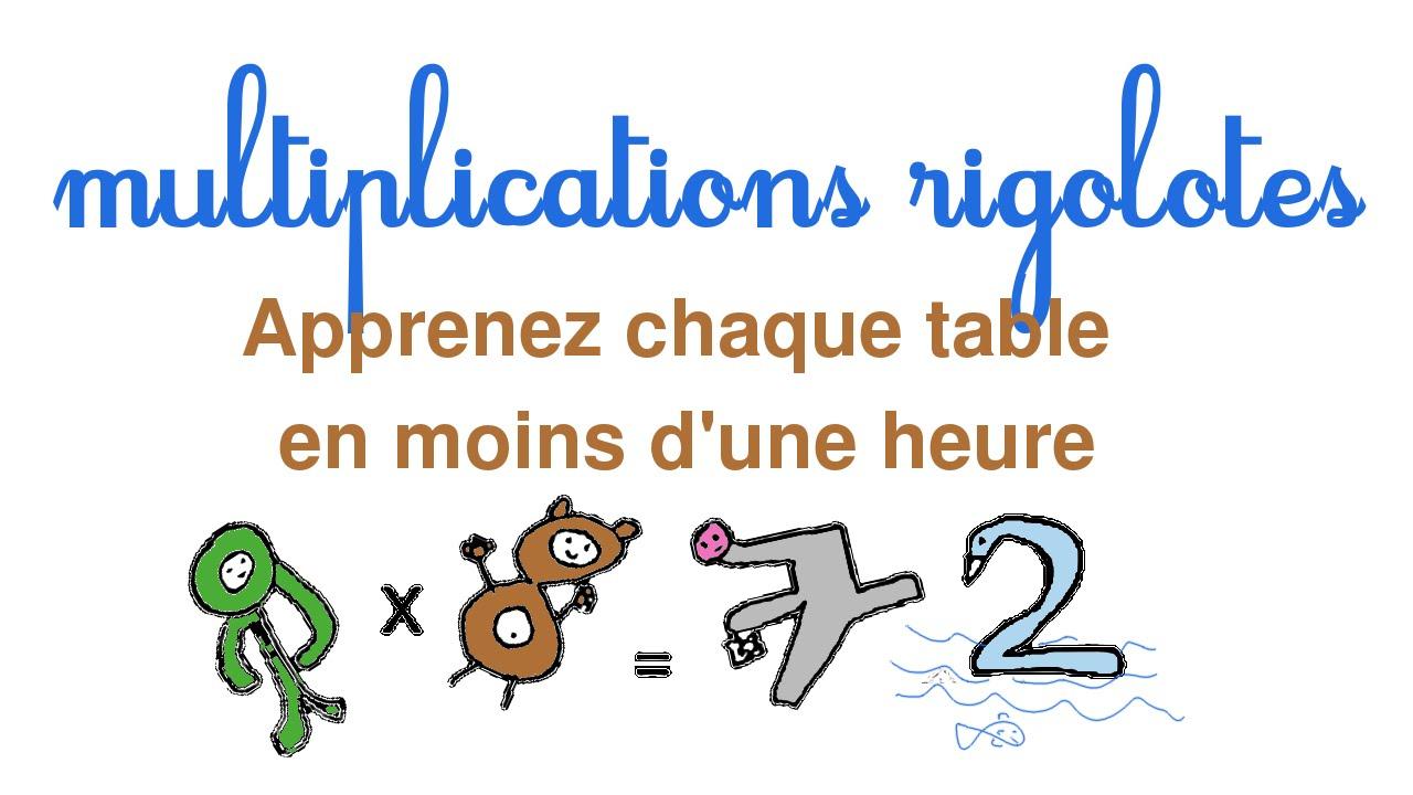 Apprendre Facilement Les Tables De Multiplication intérieur Apprendre Les Tables En S Amusant