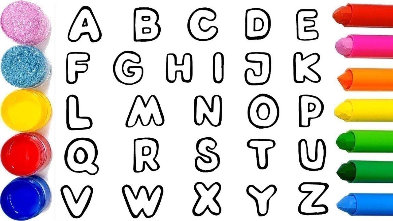 Apprendre L'alphabet Coloriage Des Lettres Vidéo Pour Enfants & Planète  Coloriage dedans Coloriage D Alphabet