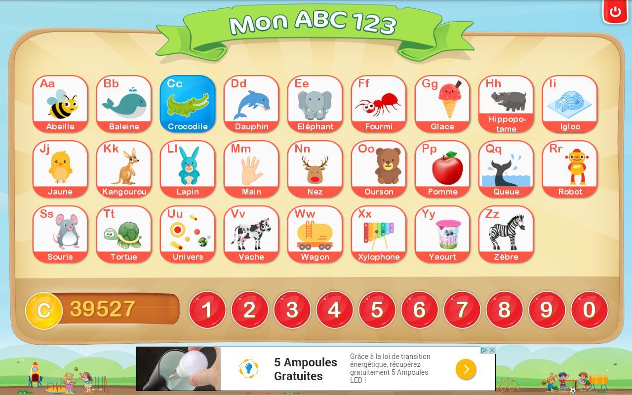 Apprendre L'alphabet Et Chiffres Français Gratuit Pour tout Jeux Pour Apprendre Les Chiffres En Francais
