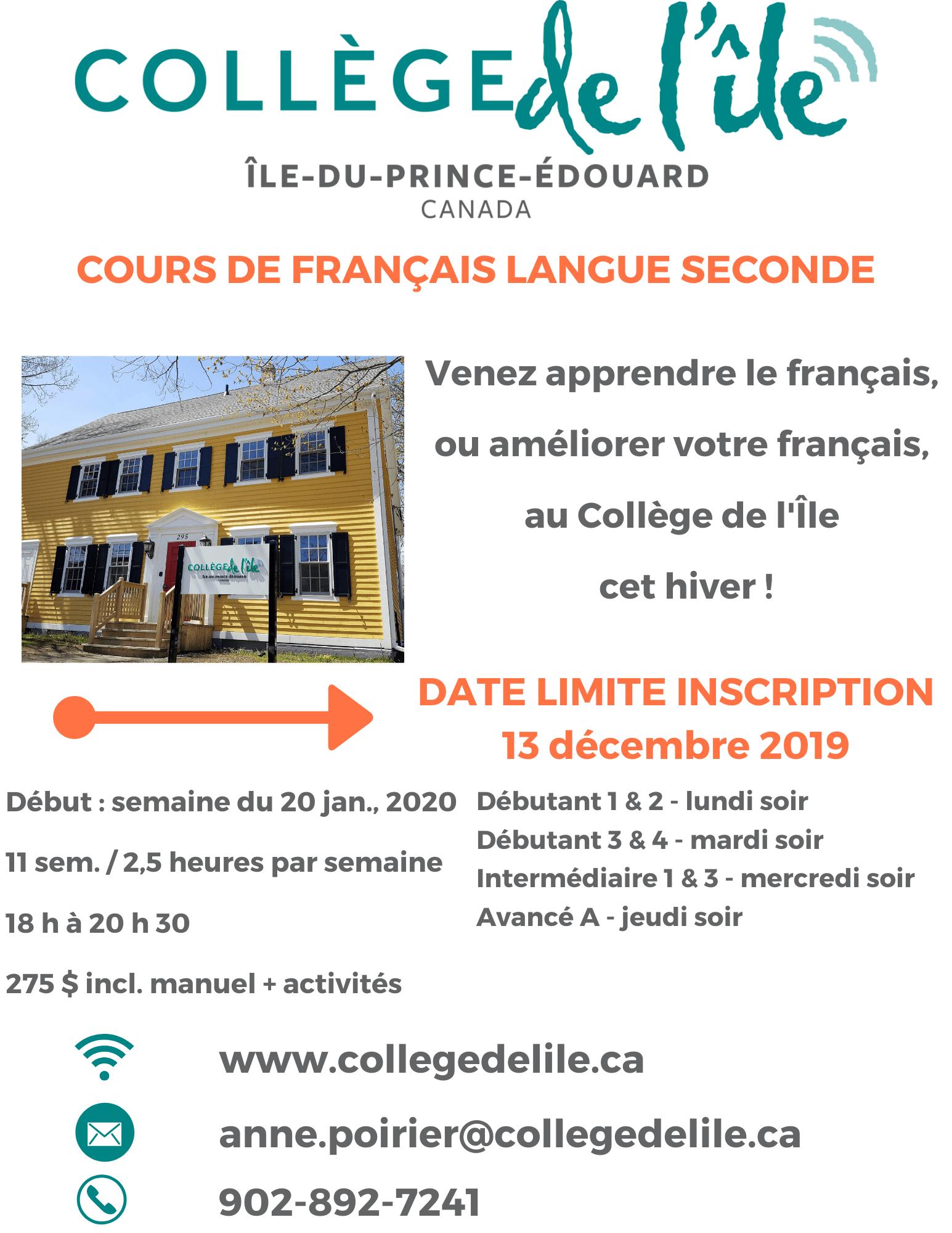Apprendre Le Français En Soirée - Collège De L'île avec Apprendre A Ecrire Le Francais Pour Debutant