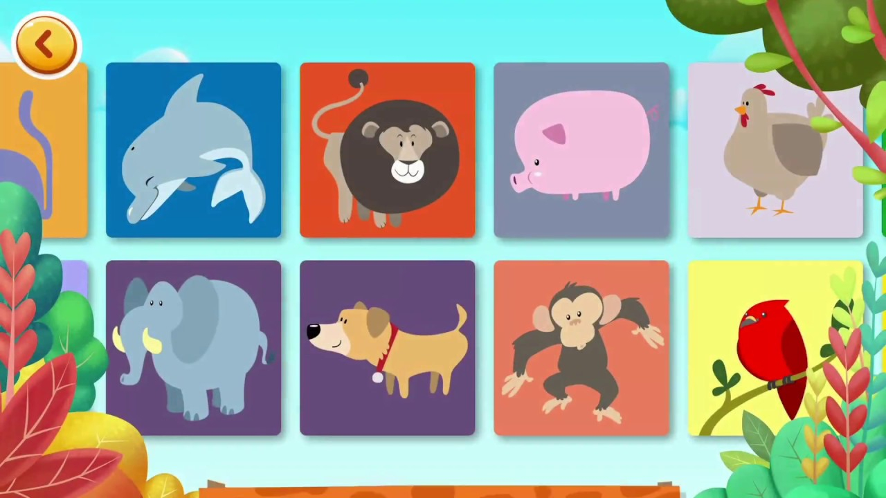 Apprendre Le Nom Des Animaux En Français ! Jeux Amusant Et Éducatifs Pour  Les Enfants tout Jeux Animaux Enfant