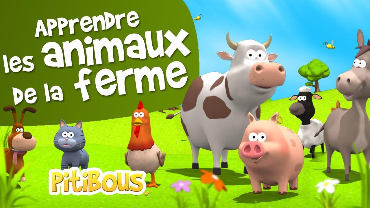 Apprendre Les Animaux De La Ferme - Les Pitibous avec Bruit Des Animaux De La Ferme
