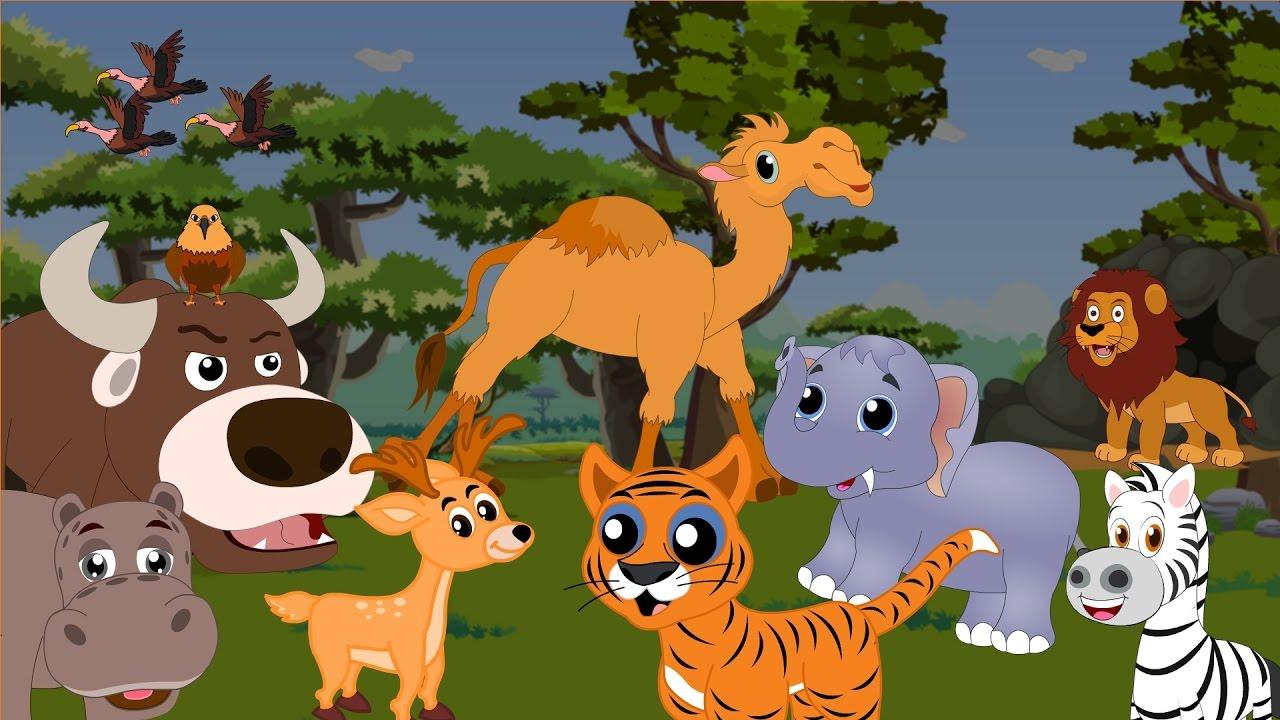 Apprendre Les Animaux De La Savane - Apprendre Les Animaux Sauvages En  Français à Animaux De La Jungle Maternelle