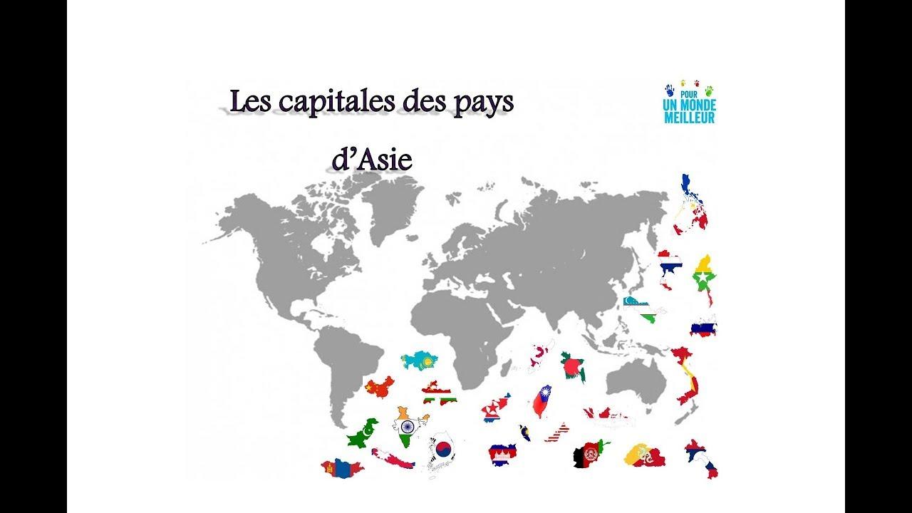 Apprendre Les Capitales Des Pays D'asie -1- concernant Pays Et Leurs Capitales