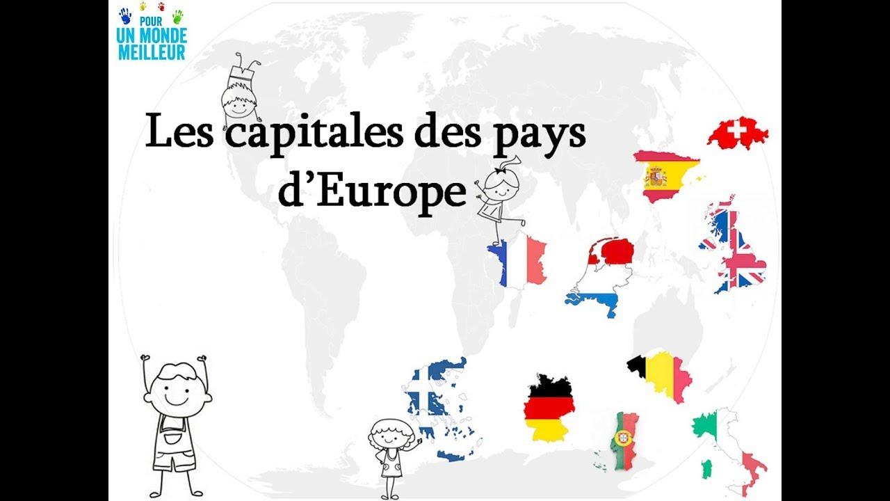 Apprendre Les Capitales Des Pays D'europe - 1 - encequiconcerne Les Capitales D Europe