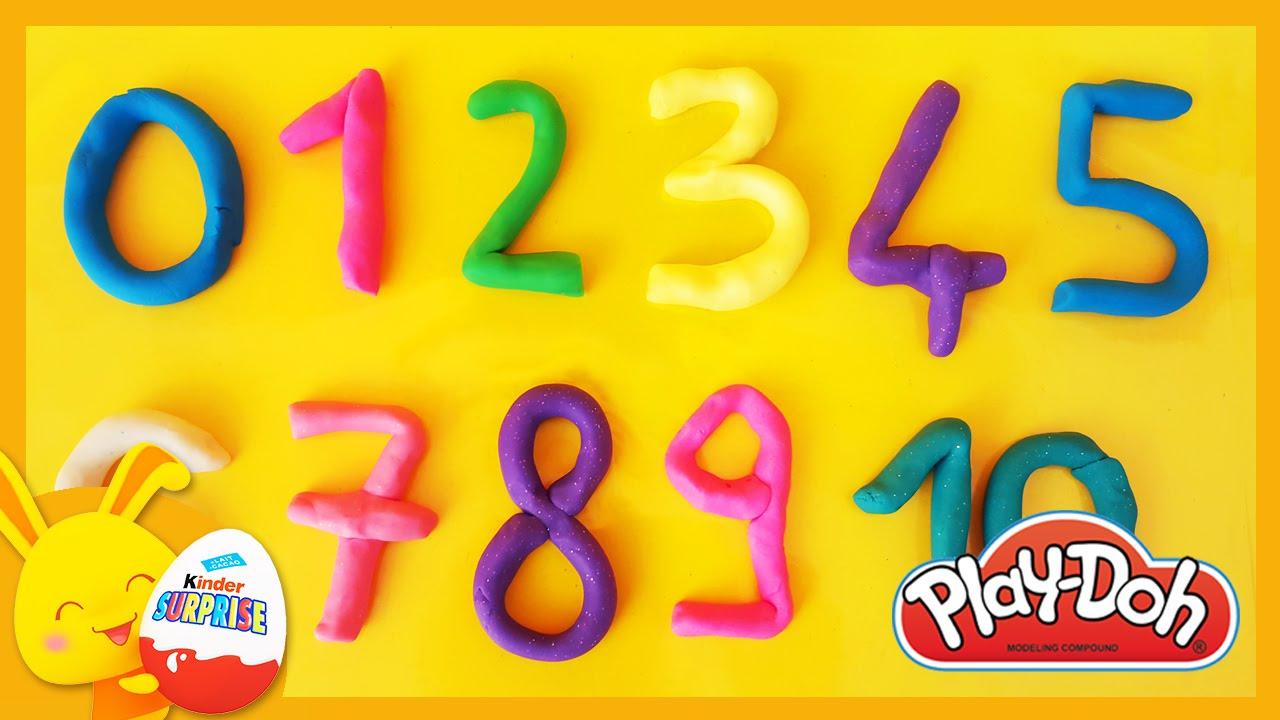 Apprendre Les Chiffres En Français Pour Enfants En Pâte À Modeler Play-Doh  - Titounis serapportantà Apprendre Les Chiffres En Français