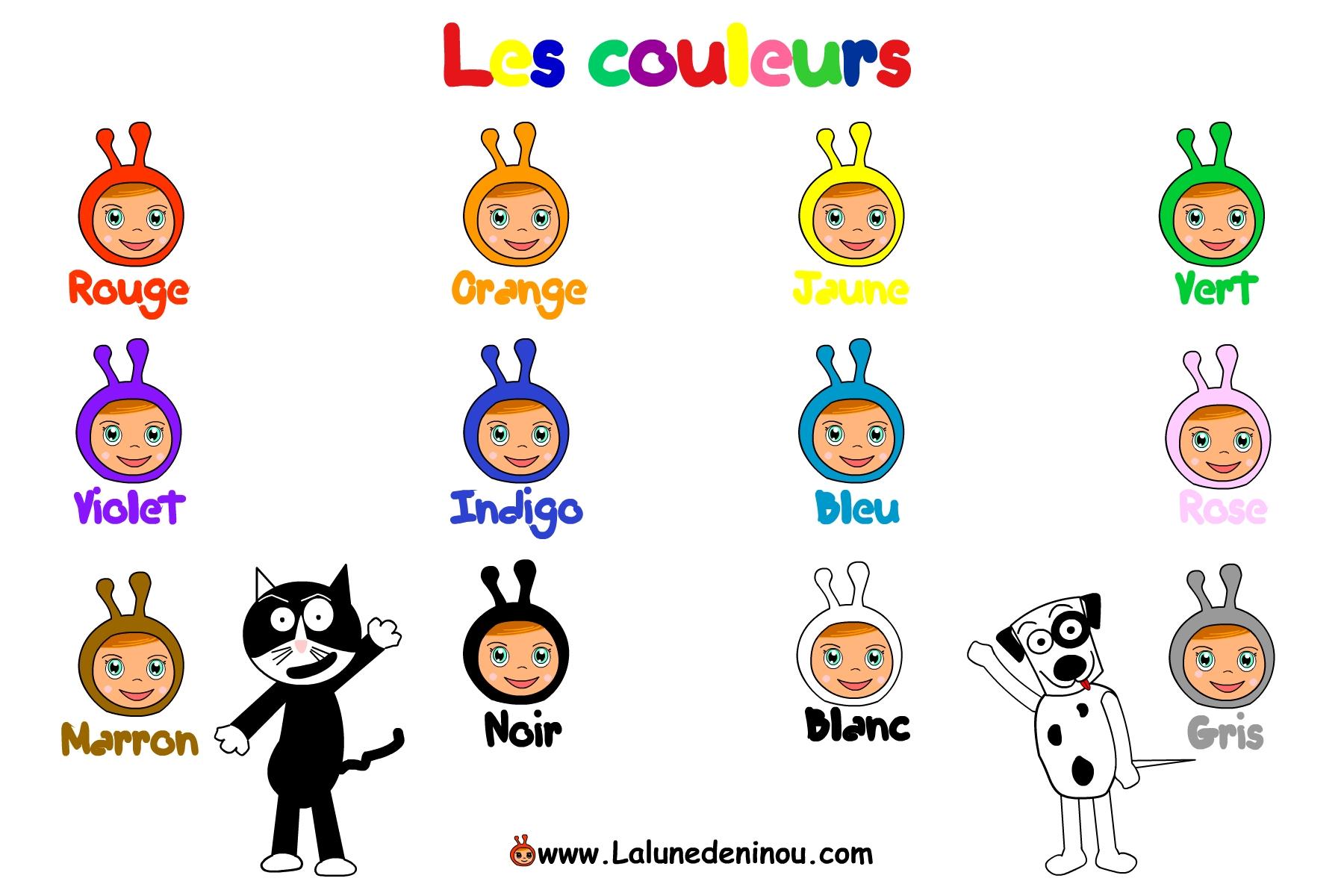Apprendre Les Couleurs, Rouge, Bleu..- Jeux Pour Enfants Sur tout Apprendre Les Couleur En Francais