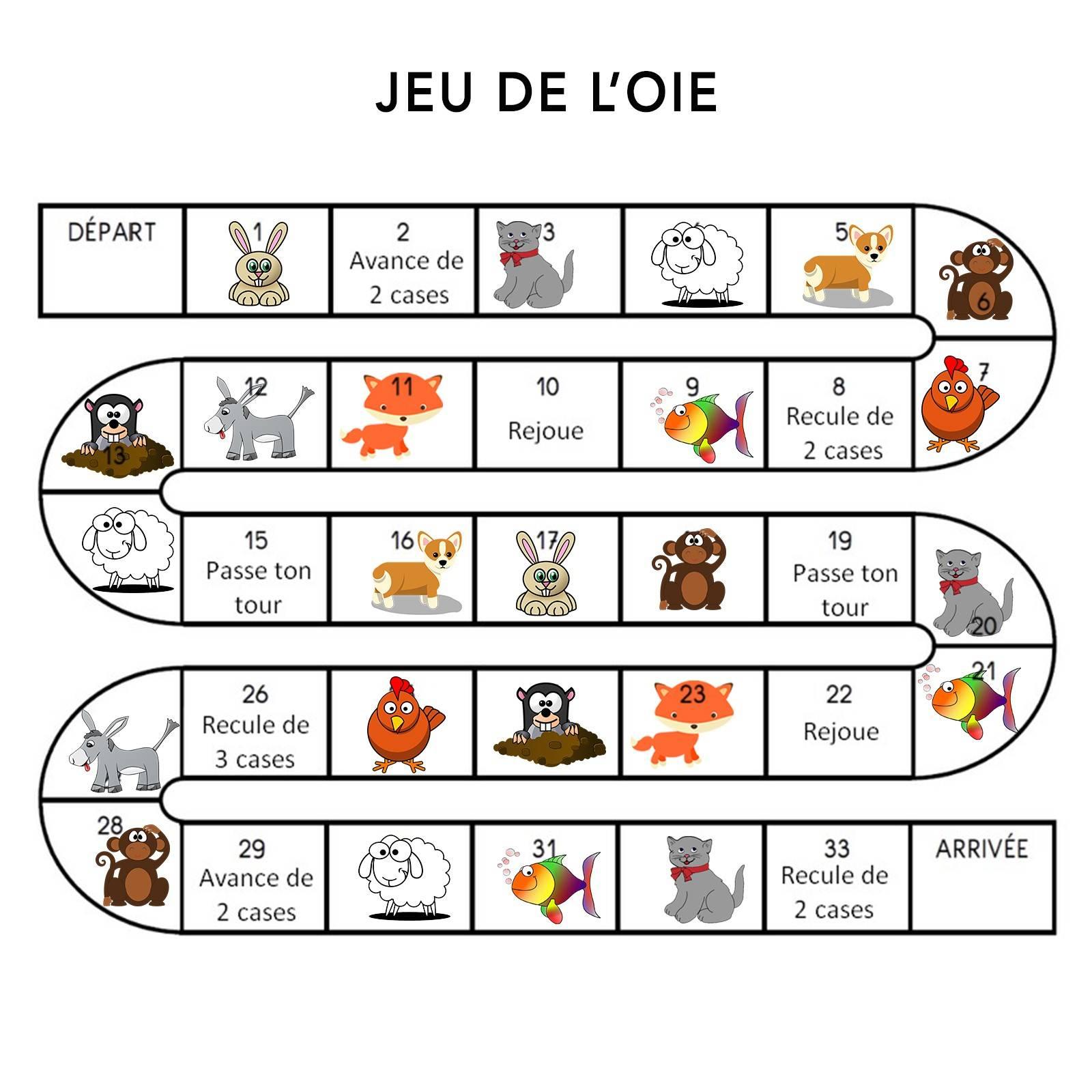 Apprendre Les Expressions Françaises À Son Enfant Avec Un pour Jeu De L Oie A Imprimer
