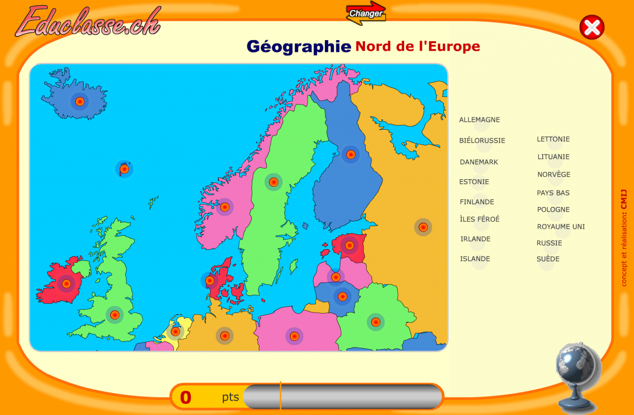 Apprendre Les Pays D'europe Par Le Jeu serapportantà Pays D Europe Jeux Gratuit