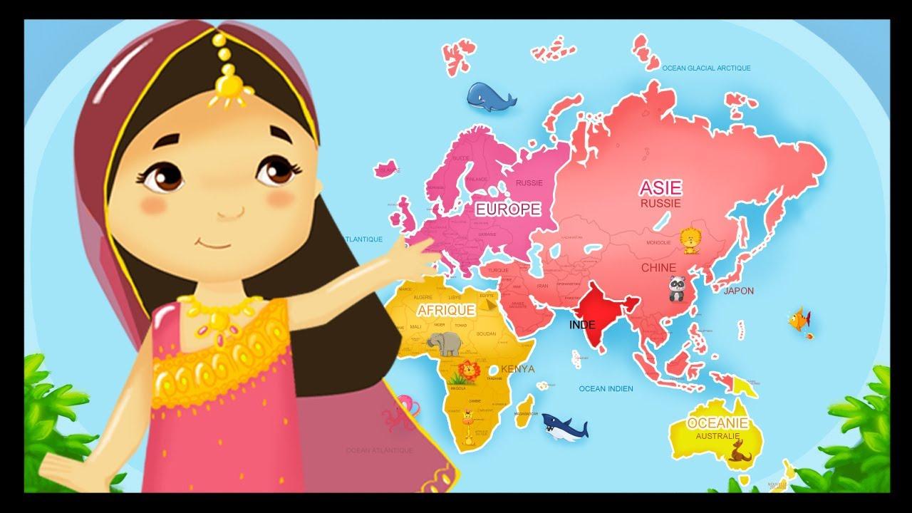 Apprendre Les Pays Du Monde Et Leurs Drapeaux avec Carte Du Monde Et Leur Capitale