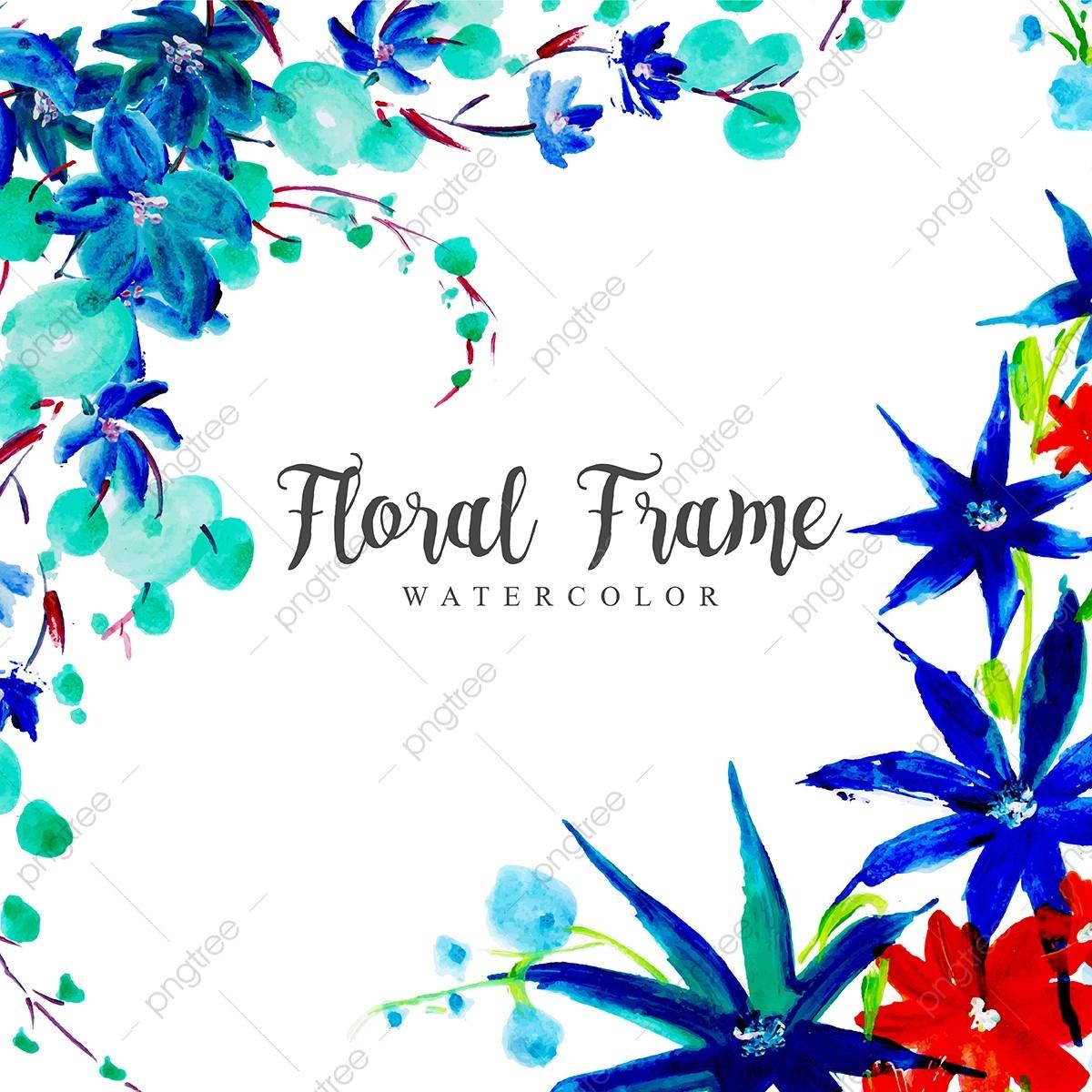 Aquarelle Multi Objet Contexte Cadre Floral, Aquarelle destiné Feuille De Couleur A Imprimer Gratuit