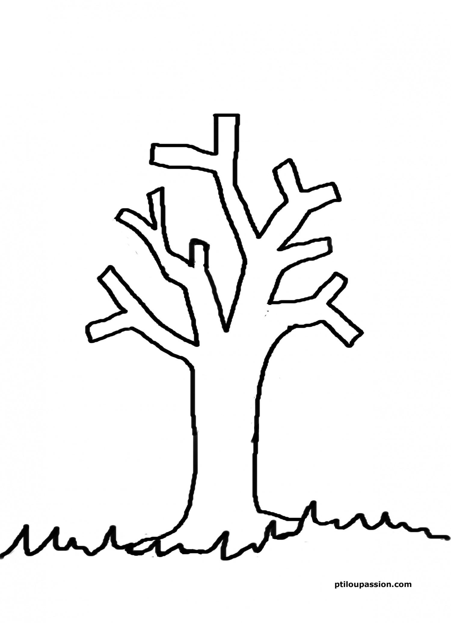 Arbre #66 (Nature) – Coloriages À Imprimer serapportantà Arbre A Colorier Et A Imprimer