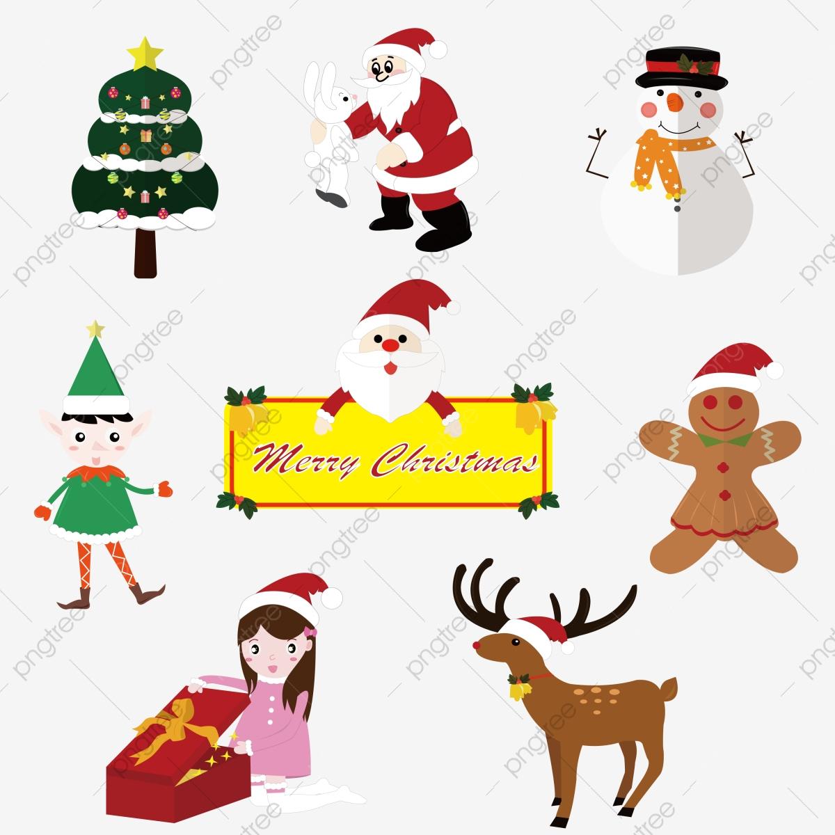 Arbre De Noel Le Père Noël Bonhomme De Neige Elfe Vert serapportantà Jeu Pour Noel Gratuit