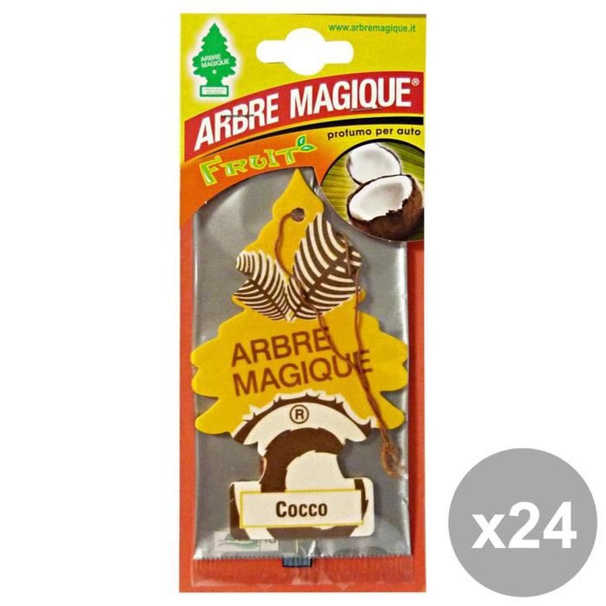 Arbre Magique Lot De 24 Déodorant Coconut Accessoires encequiconcerne Arbre Magique Voiture Personnalisé