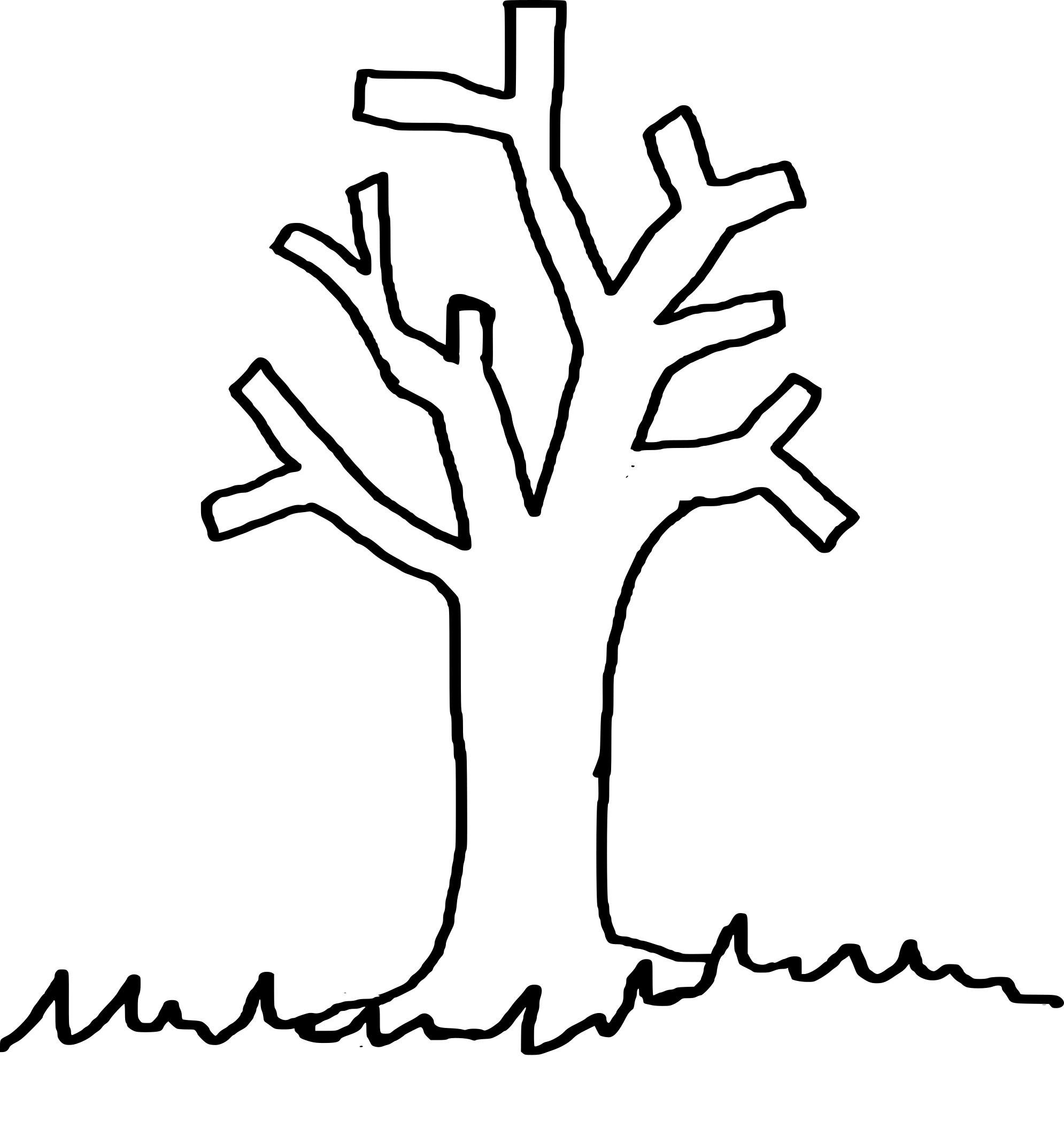 Arbre Sans Feuille Coloriage – Gamboahinestrosa intérieur Arbre A Colorier Et A Imprimer