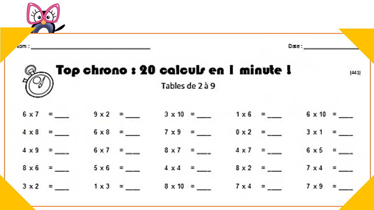 Archives Des Calcul Mental - Charivari À L'école destiné Travaille Ce2 A Imprimer