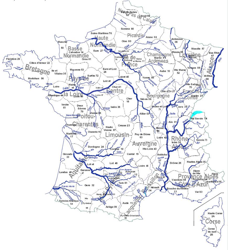 Archives Des Carte Des Fleuves Et Rivières De France - Arts pour Carte De France Des Fleuves