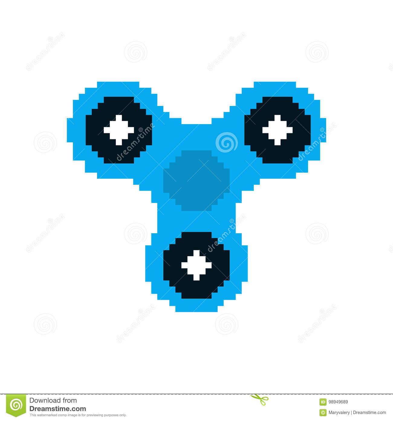 Art De Pixel De Fileur Jouet De Doigt De Personne Remuante serapportantà Pixel Jouet