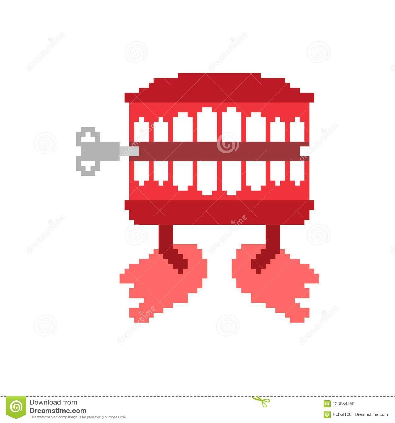Art De Pixel De Jouet De Dents De Broutement Symbole D'april intérieur Pixel Jouet