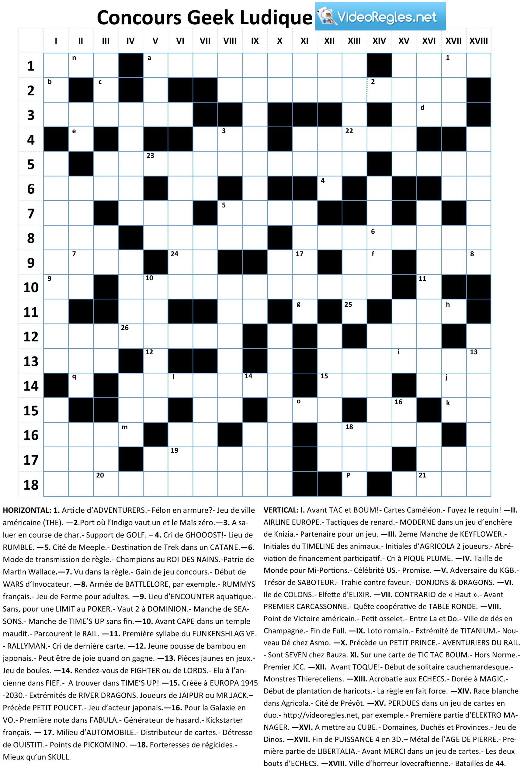 """Article: (Terminé) Le Grand Concours """"geek Ludique destiné Definition Mot Fleches Gratuit"""