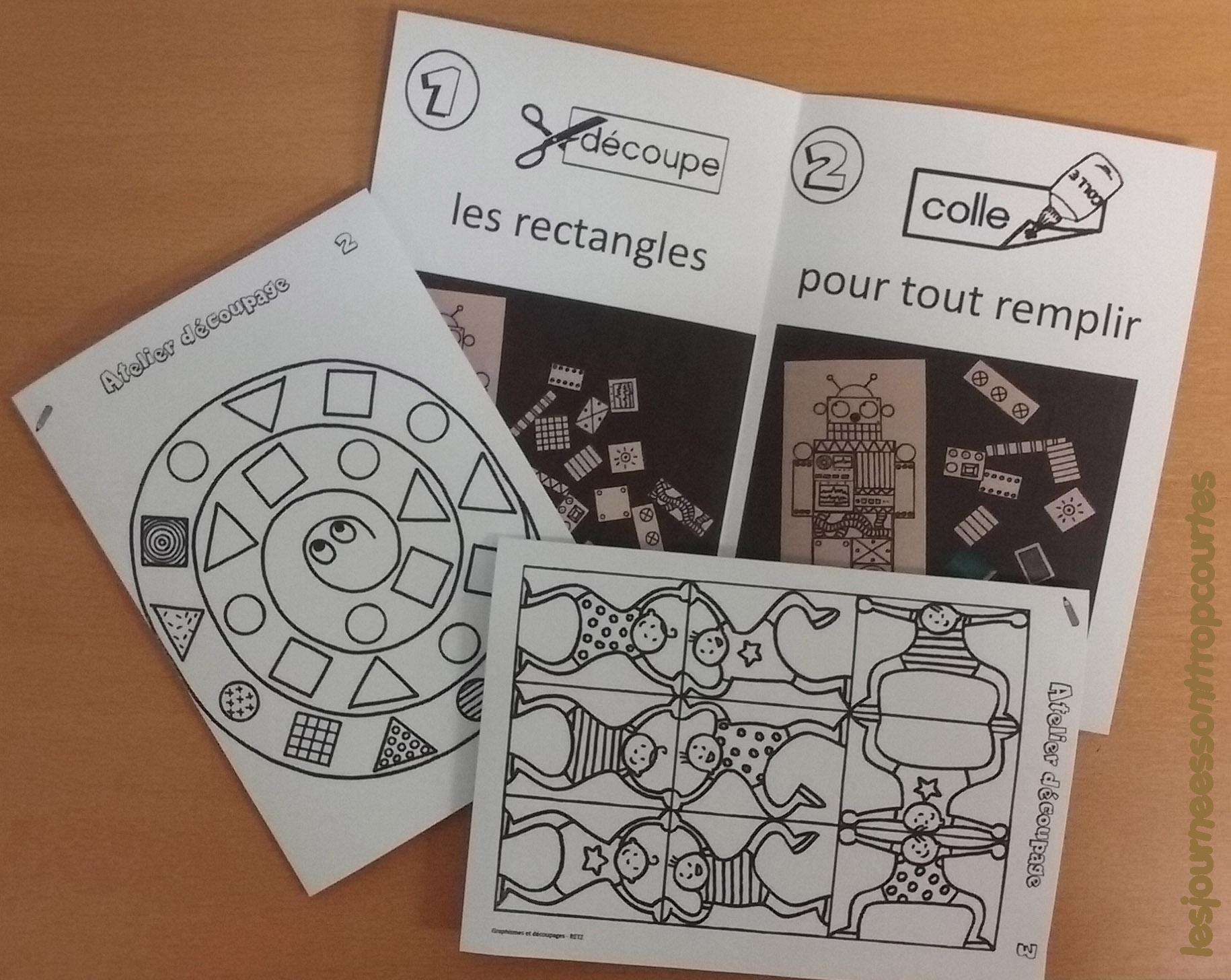 Atelier Découpage - Les Journées Sont Trop Courtes serapportantà Découpage Cp