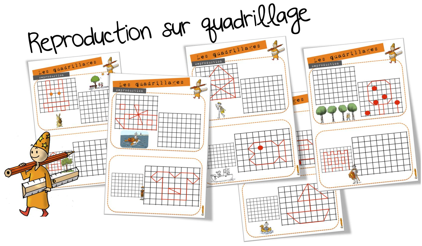 Ateliers Maths : Reproduction Sur Quadrillage | Bout De Gomme intérieur Reproduction Figure Cp