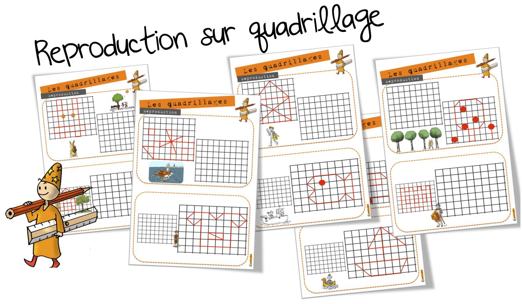 Ateliers Maths : Reproduction Sur Quadrillage (Bout De Gomme pour Reproduction Quadrillage Ce1