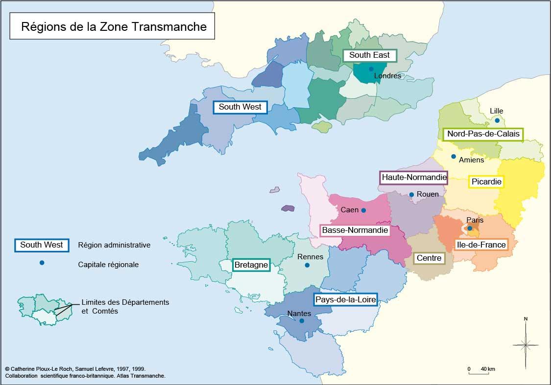 Atlas Transmanche - Espace Manche tout Le Découpage Administratif De La France