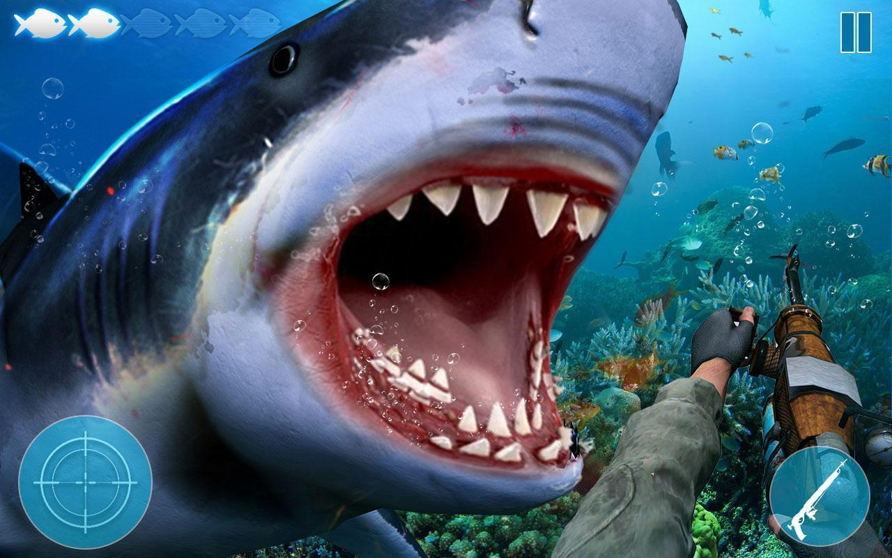 Attaque De Requin En Colère: Jeux Chasse Haute Mer Pour concernant Requin Jeux Gratuit