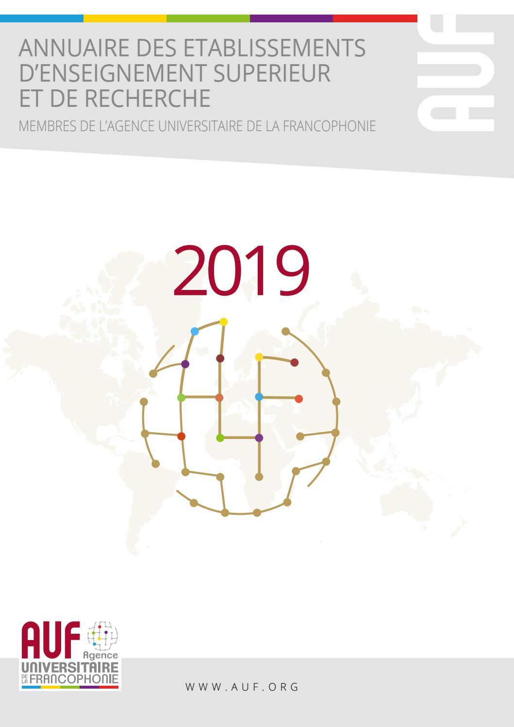 Auf 2019 - Agence Universitaire De La Francophonie By Azur dedans Numero Des Departements Francais