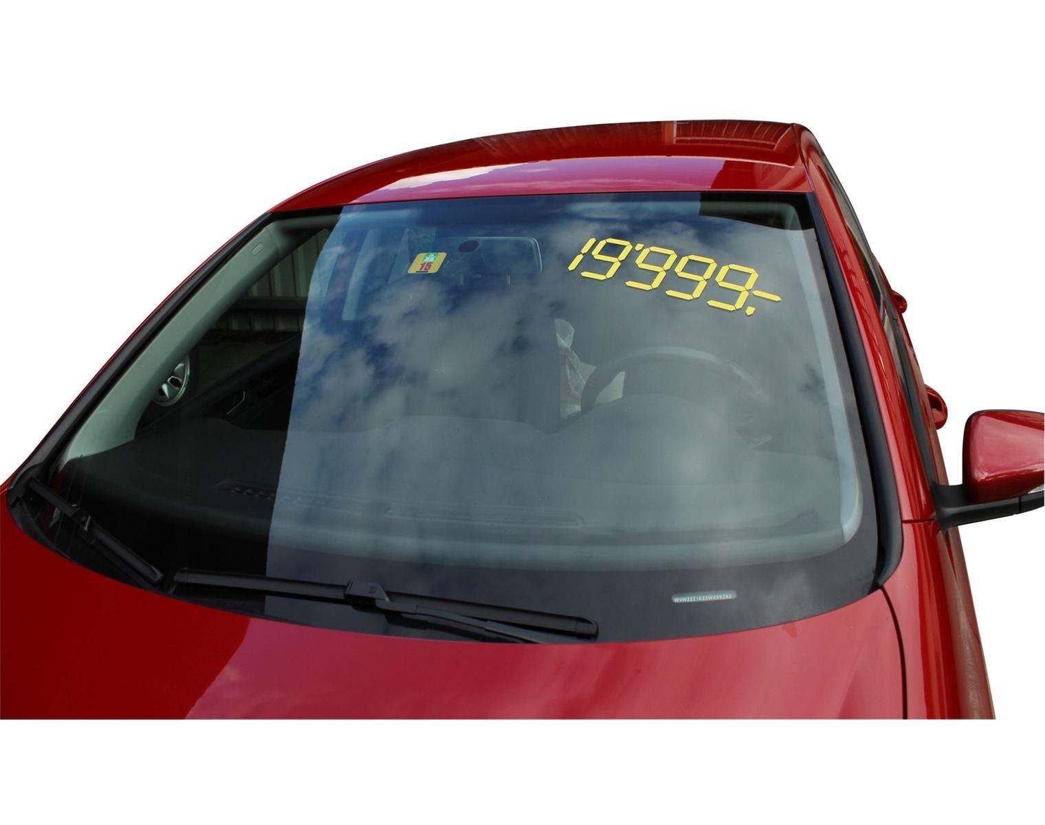 Autocollants De Prix Vente De Voitures, 40 X 12 Cm, Jaune à Le Jeu De La Voiture Jaune