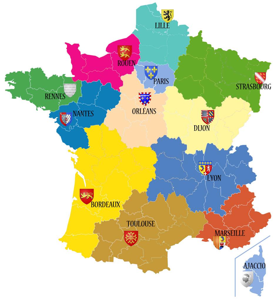 Avant/apres. Découvrez Les 13 Noms Des Nouvelles Régions De destiné Carte Anciennes Provinces Françaises