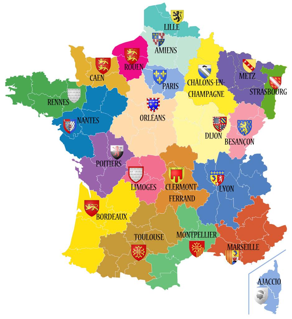 Avant/apres. Découvrez Les 13 Noms Des Nouvelles Régions De intérieur Le Nouveau Découpage Des Régions
