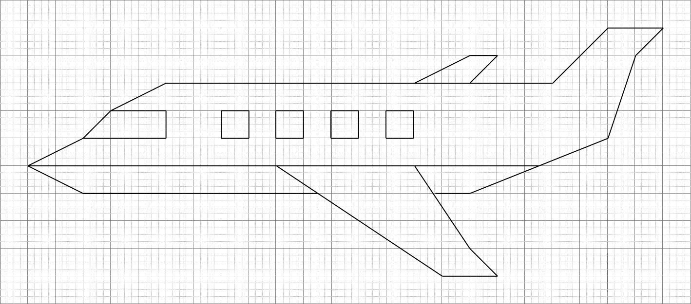 Avion Quadrillage | Géométriquement pour Reproduire Un Dessin Sur Quadrillage Cp
