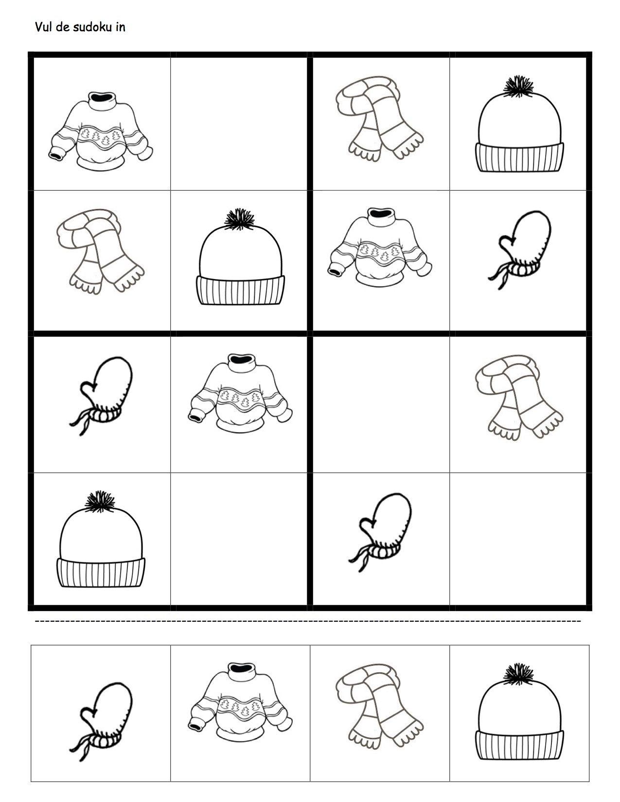 Aynı Farklı Benzer Werkblaadje Sudoku Winterkleding dedans Sudoku Grande Section