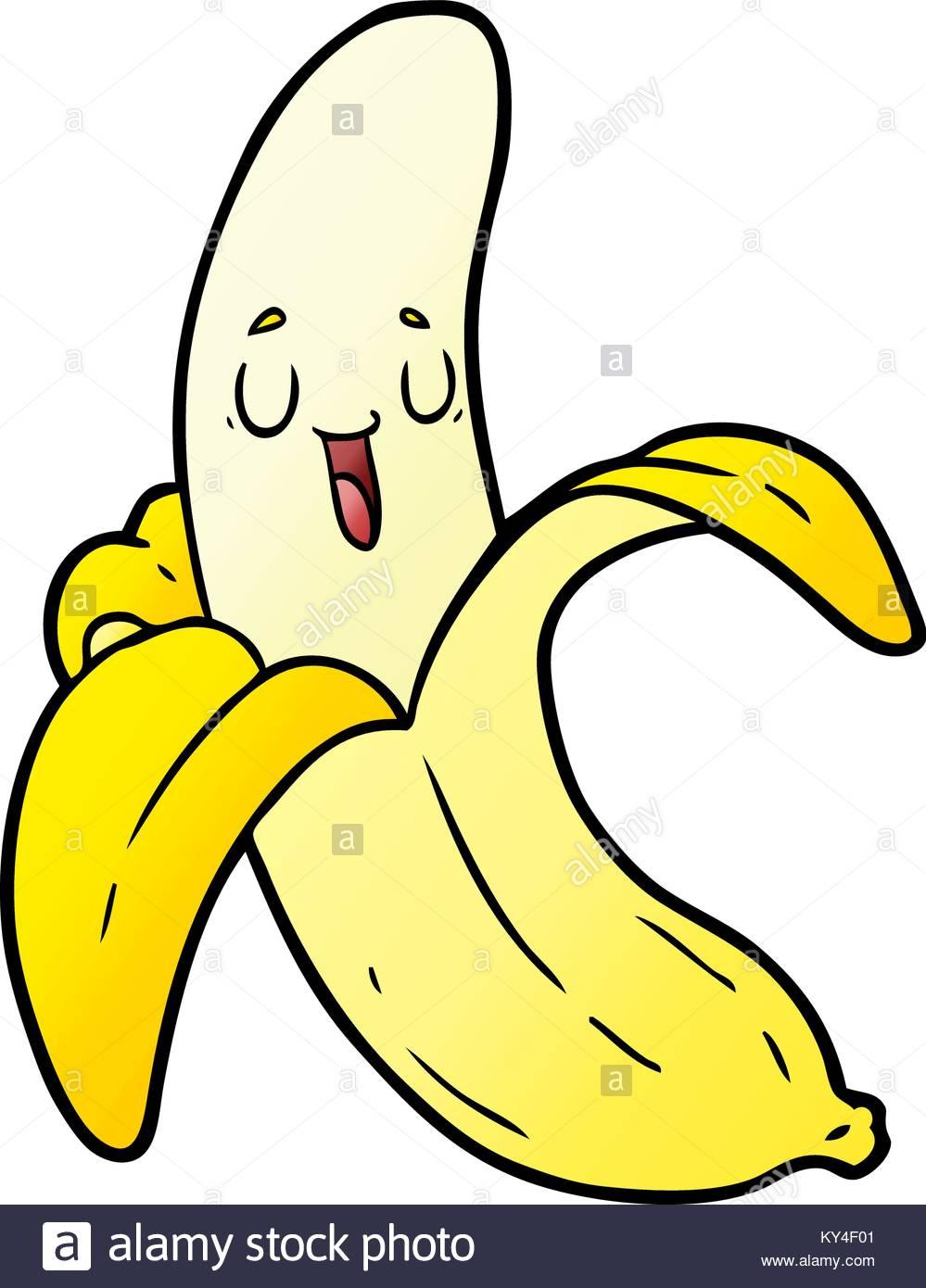 Banane De Dessin Animé Vecteurs Et Illustration, Image pour Dessiner Une Banane