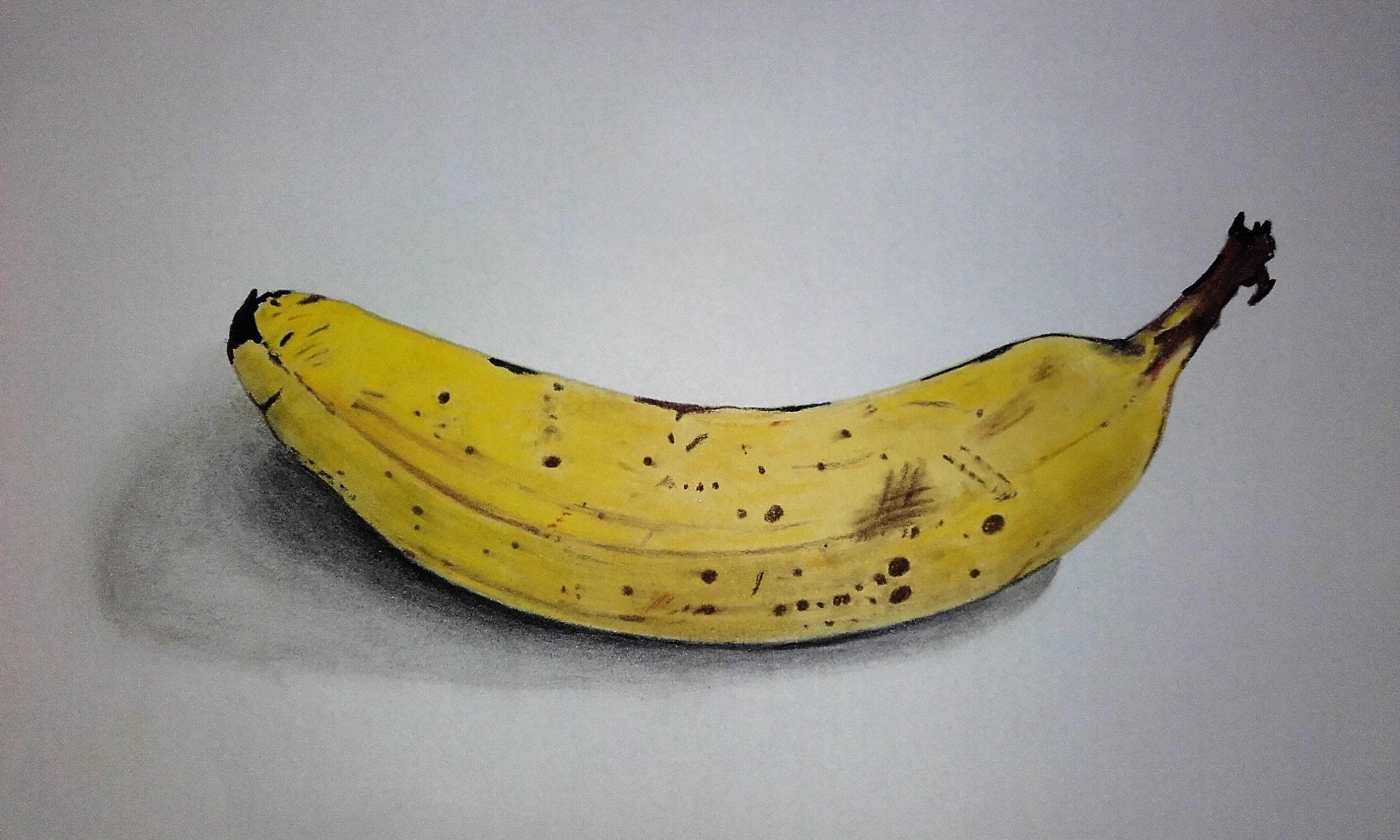 Banane ( Promarker Et Pastel Sec ) | Banane Dessin, Pastel intérieur Dessiner Une Banane