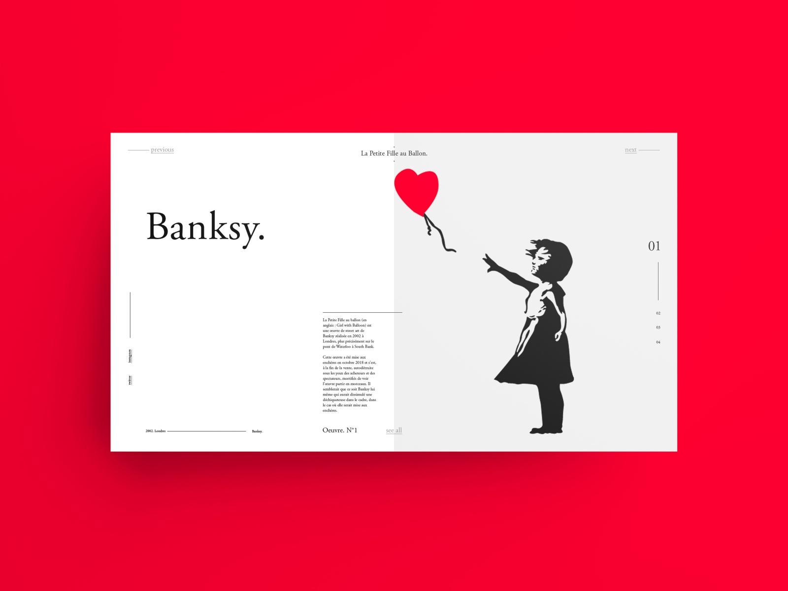 Banksy - La Petite Fille Au Ballon Rouge By Obadia intérieur Ux De Fille