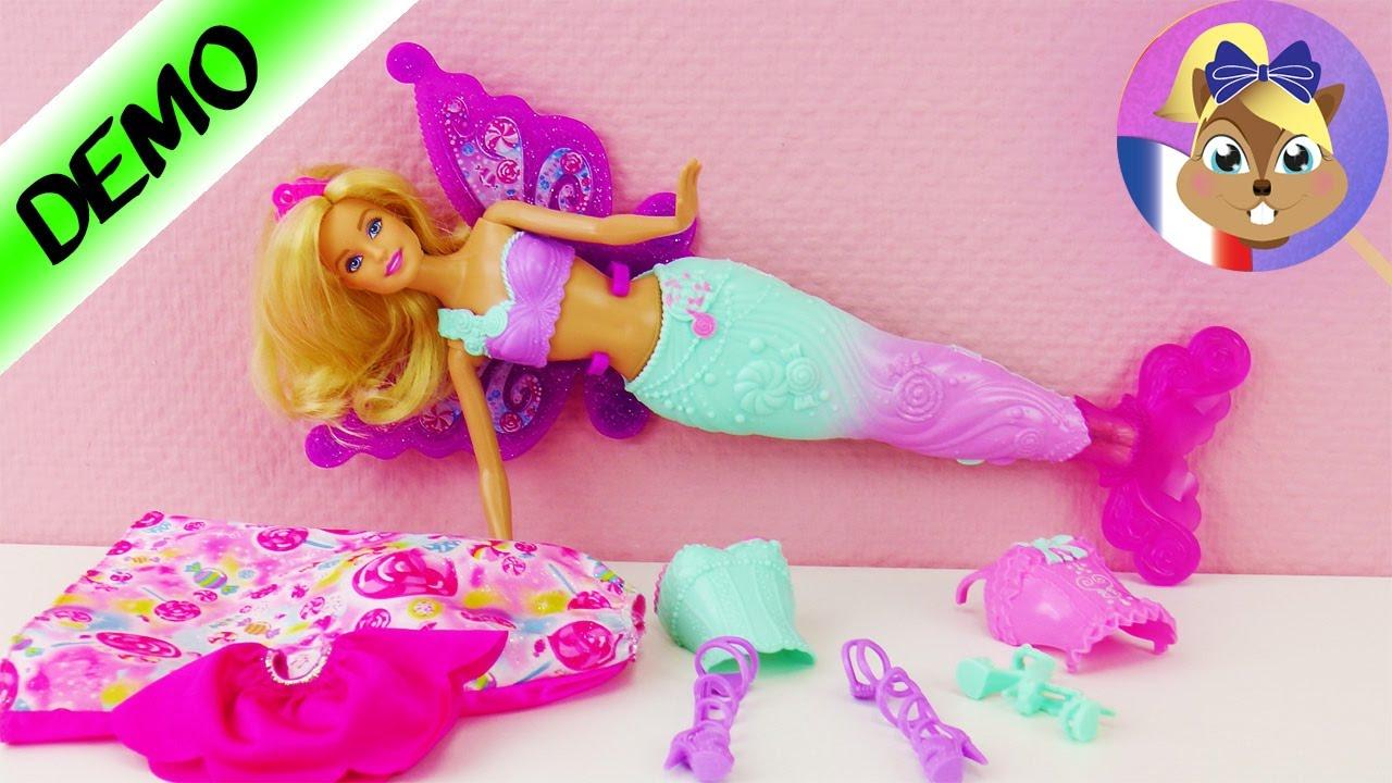 Barbie Princesse Sirène Fée 3En1 | Dreamtopia Super Vêtements À Changer |  Français pour Jeux De Fee Gratuit