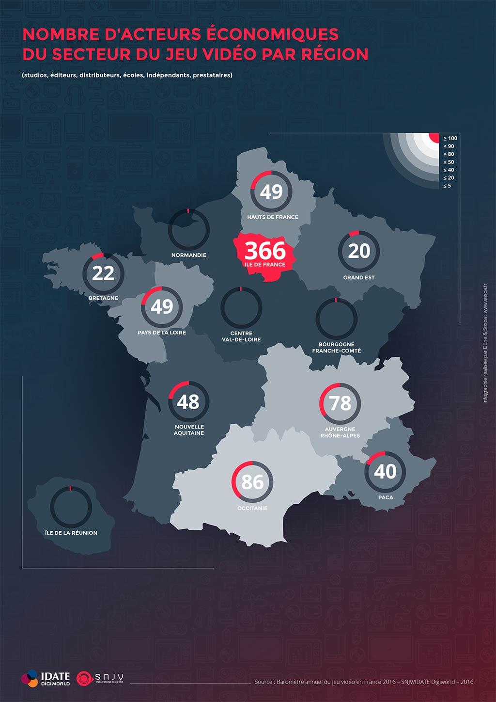 Baromètre 2016 Du Jeu Vidéo En France tout Les Régions De France Jeux