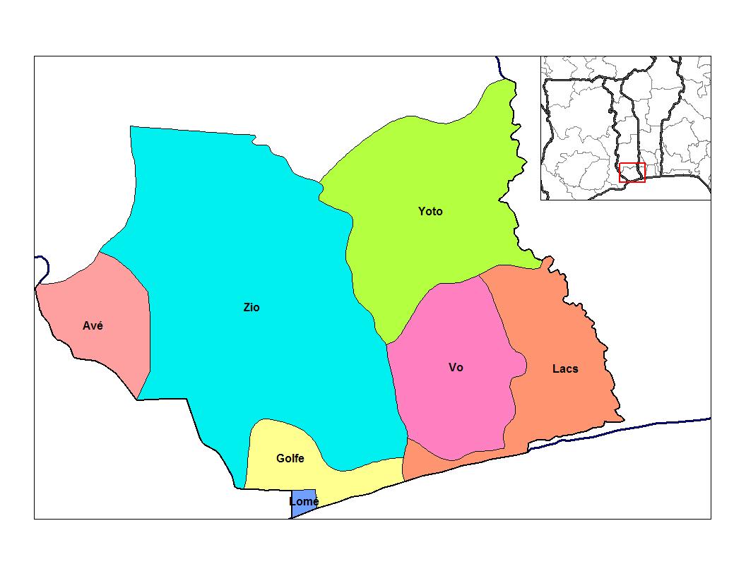 Bas-Mono Prefecture - Wikipedia concernant Carte Des Préfectures
