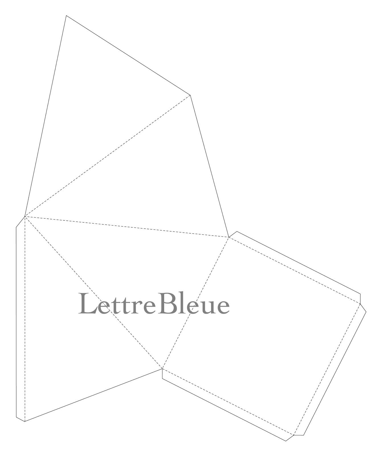 Bea Recreation: Gabarits Sapin Et Boîte dedans Gabarit Boite En Papier
