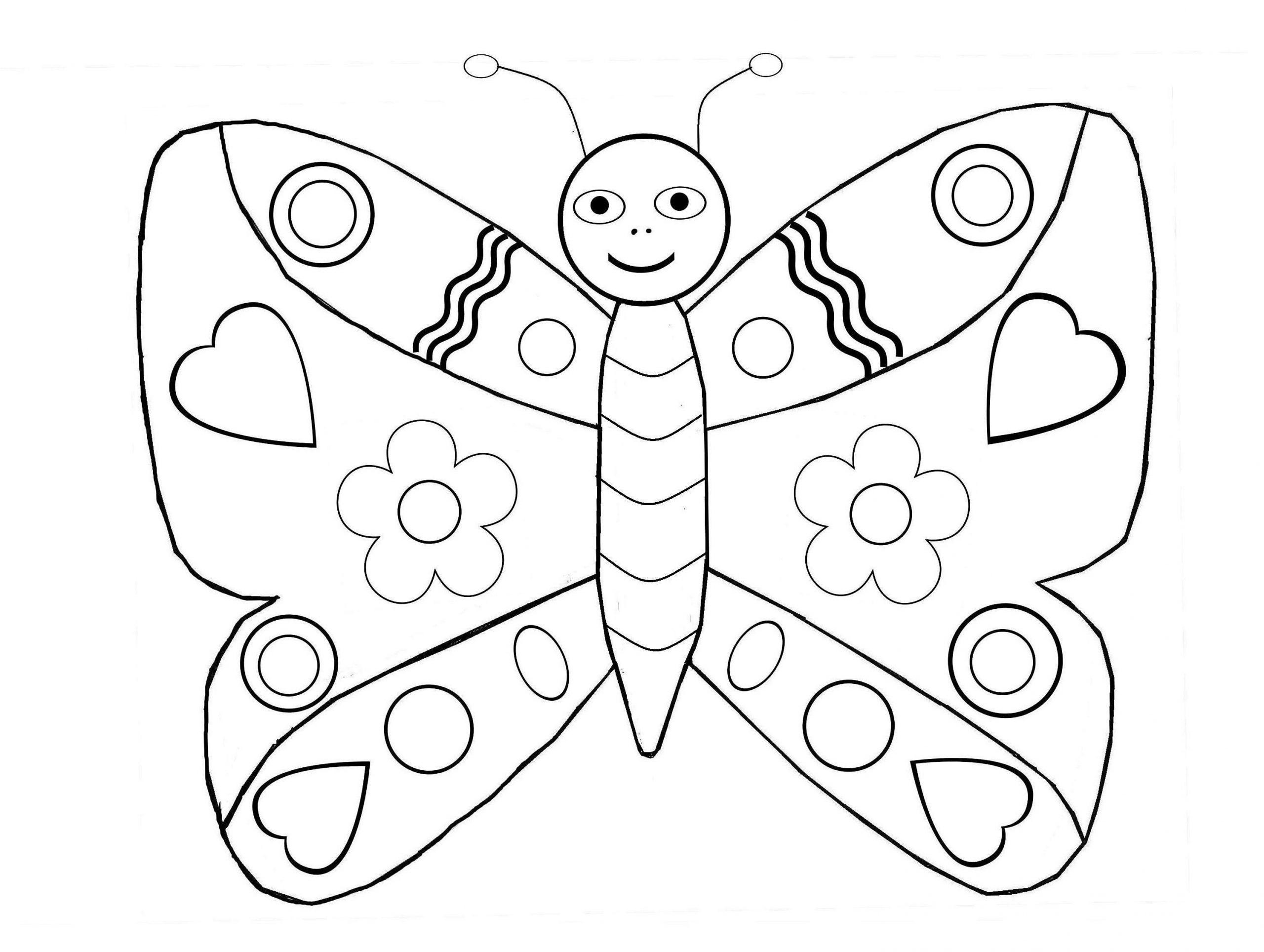 Beau Coloriage 3 Ans A Imprimer Gratuit | Coloriage Enfant avec Jeux Papillon Gratuits Ligne
