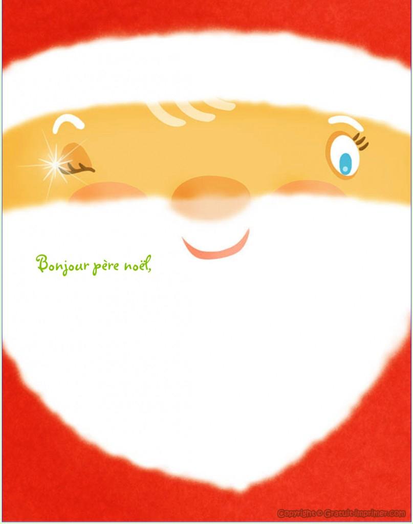 Beau Papier À Lettre Pour Écrire Au Père Noel serapportantà Papier A Lettre Pere Noel Gratuit