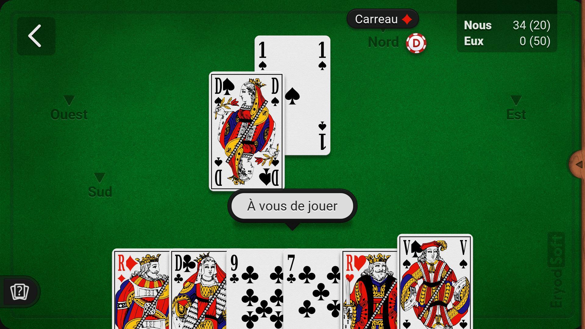 Belote (Gratuit) Pour Android - Téléchargez L'apk serapportantà Jeux De Cartes Gratuits À Télécharger En Français